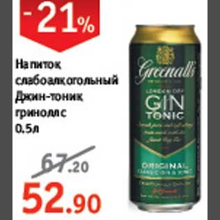 Магазин: Виктория, Скидка: Напиток слабоалкогольный Джин-тоник.